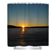 Sunset Reflection Shower Curtain