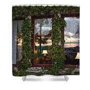 Sunset Reflection On Empress Window Shower Curtain