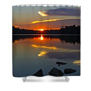 Sunset Reflection On The Lake Shower Curtain