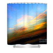 Sunset Reflections - Abstract Shower Curtain