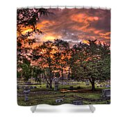 Sunset Reflections And Life Shower Curtain