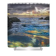 Sunset Reflections Shower Curtain by Robert Bales