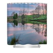 Sunset Reflections Square Shower Curtain