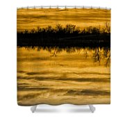 Sunset Riverlands West Alton Mo Sepia Tone Dsc03319 Shower Curtain