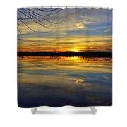Sunset Riverlands West Alton Mo Dsc03329 Shower Curtain