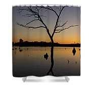Sunset Riverlands West Alton Mo Portrait Dsc06670 Shower Curtain