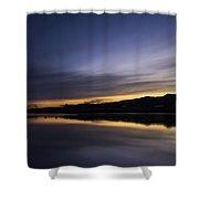 Sunset Riverscape Shower Curtain