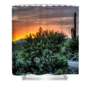 Sunset Road Shower Curtain