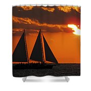 Key West Sunset Sail 3 Shower Curtain