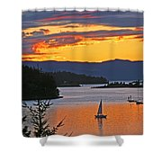Sunset Sail In The Bay Shower Curtain
