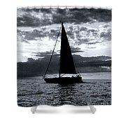 Sunset Sailing -2 Shower Curtain