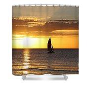 Sunset Sailing Shower Curtain