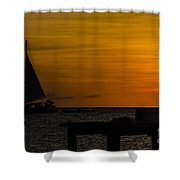 Sunset Sails Shower Curtain