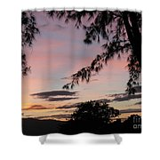 Sunset Sainte Marie-reunion Island-indian Ocean Shower Curtain by Francoise Leandre