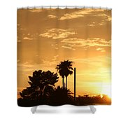 Sunset Sillouette Shower Curtain