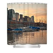 Buenos Aires Sunset Shower Curtain