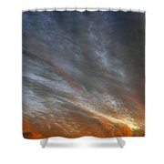 Sunset Sky With Cirrocumulus Clouds Usa Shower Curtain