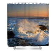 Sunset Spray Shower Curtain