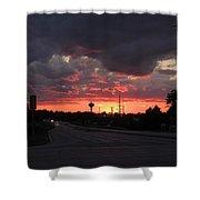 Black Cloud Cometh Shower Curtain