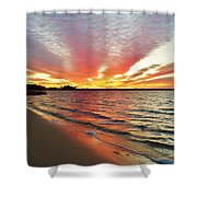 Sunset Streaks Shower Curtain