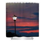 Sunset Streetlight Shower Curtain