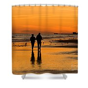 Sunset Stroll Shower Curtain by Al Powell Photography USA