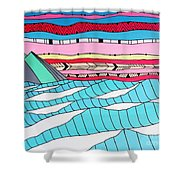 Sunset Surf Shower Curtain by Susan Claire