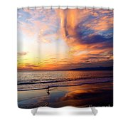 Sunset Surfing Shower Curtain