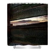 Sunset Throough The Fence Shower Curtain
