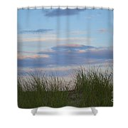 Sunset Through Grass Shower Curtain