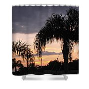 Sunset Through The Palms Shower Curtain
