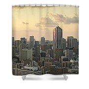 Sunset Tokyo Tower Panorama Shower Curtain