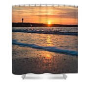 Sunset Tourists Shower Curtain