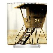 Sunset Tower 25 Shower Curtain