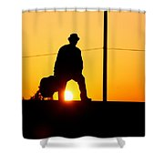 Sunset Tunnel Shower Curtain