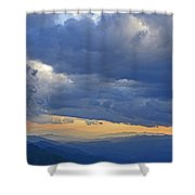 Sunset Under The Clouds Shower Curtain
