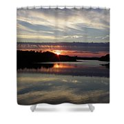 Sunset Up The Sebec Shower Curtain