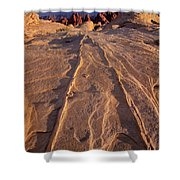 Sunset Valley Of Fire State Park Nevada Shower Curtain
