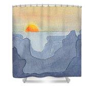 Sunset Valley Shower Curtain