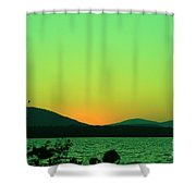 Sunset View  Shower Curtain
