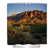 Sunset View Of The Superstitions  Shower Curtain