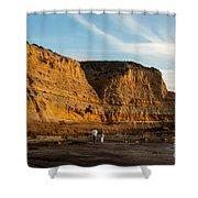 Sunset Walk At Flat Rock  La Jolla California Shower Curtain