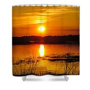 Sunset Walk In The Water Shower Curtain