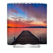 Sunset Walkway Shower Curtain