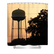 Sunset Water Tower Shower Curtain