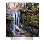 Sunset Waterfalls In Marlay Park Shower Curtain