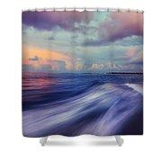 Sunset Wave. Maldives Shower Curtain