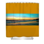 Sunset With Birds Shower Curtain