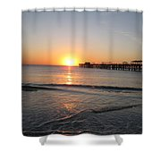 Fishingpier Sunset Shower Curtain