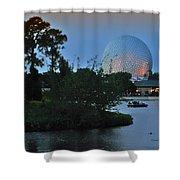 Sunset World Showcase Lagoon Shower Curtain